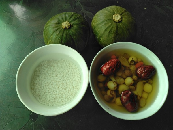 南瓜糯米盅的做法大全