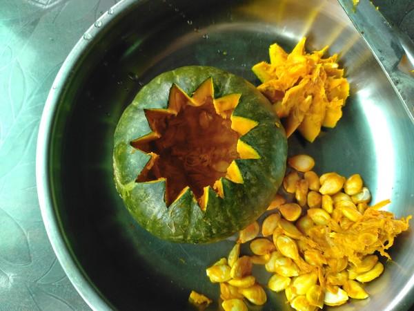南瓜糯米盅的简单做法