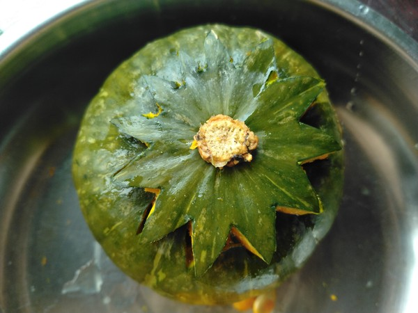 南瓜糯米盅怎么煮