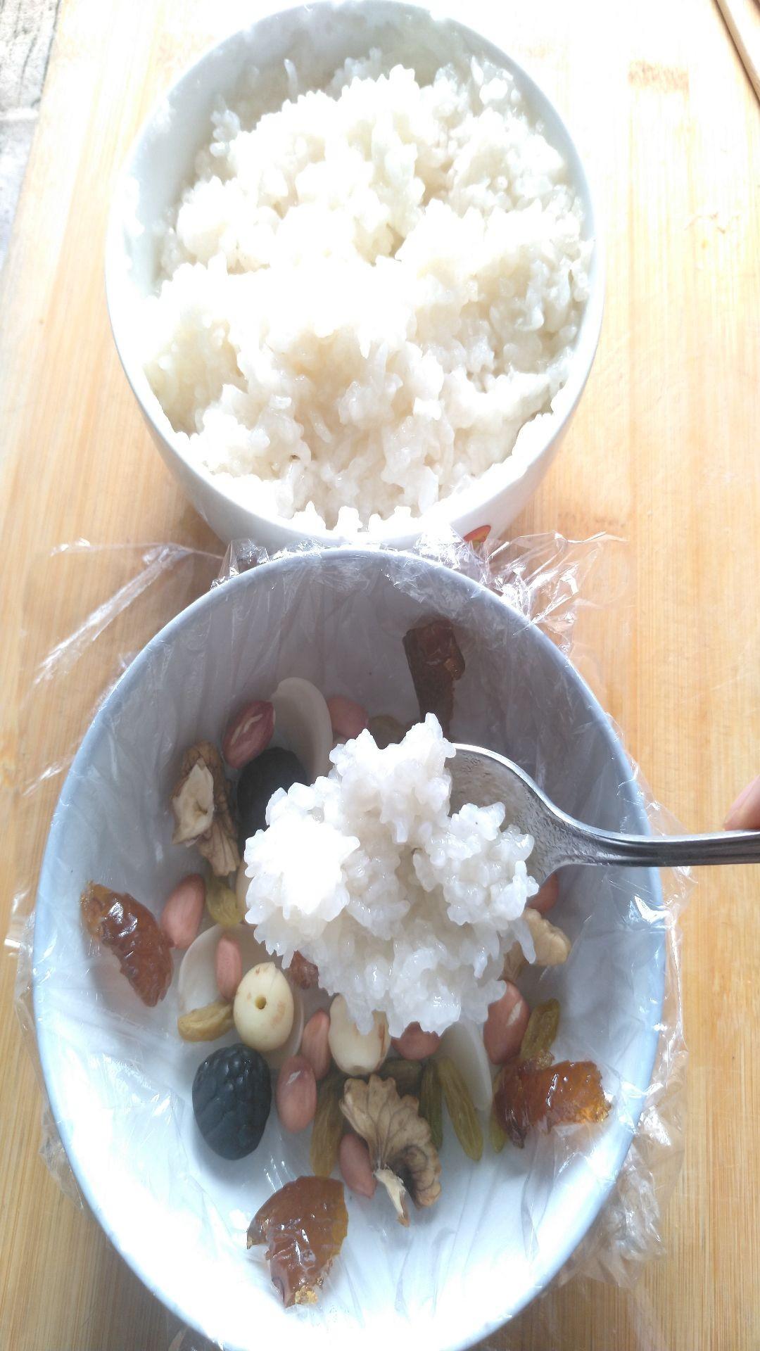 椰香八宝饭怎么煮