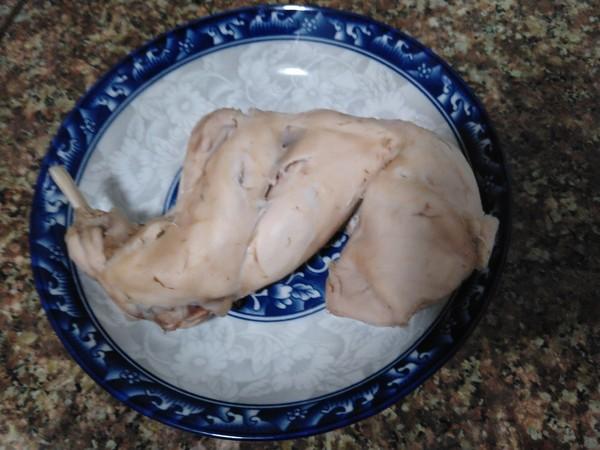 白蘸手撕兔肉怎么煮
