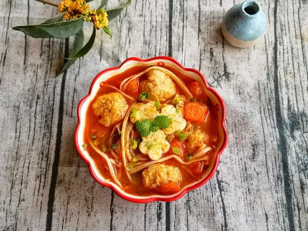番茄杏菇肉丸汤怎样做