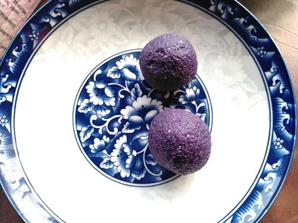小米紫薯球怎么吃