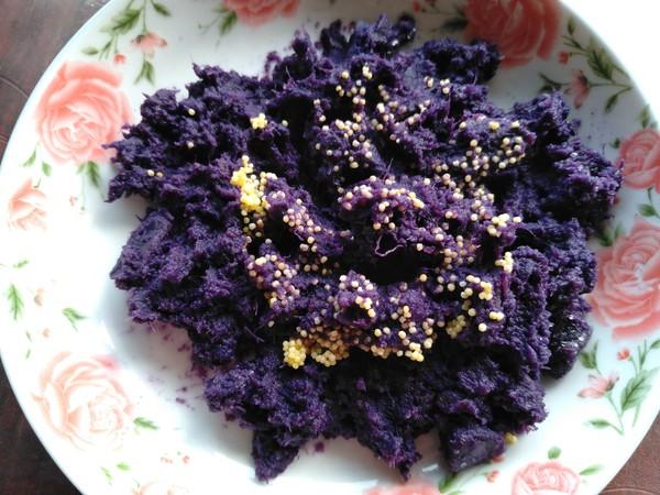 小米紫薯球的简单做法