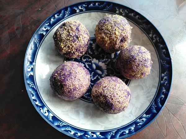 小米紫薯球怎么炒