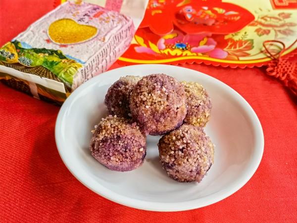 小米紫薯球怎么煮