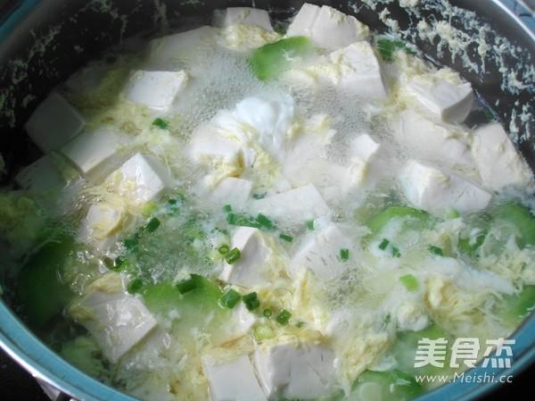 丝瓜豆腐鸡蛋汤怎么炖