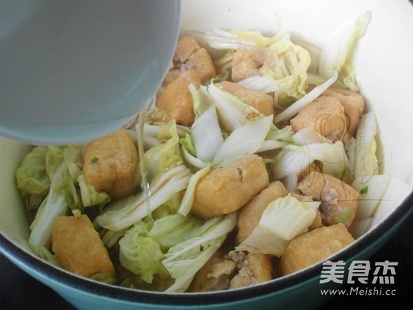 油豆腐炖白菜怎么炒