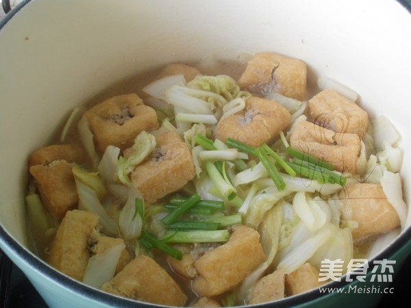 油豆腐炖白菜怎么煮