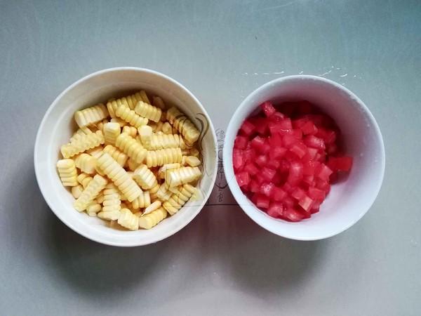 番茄玉米炒豌豆的做法图解
