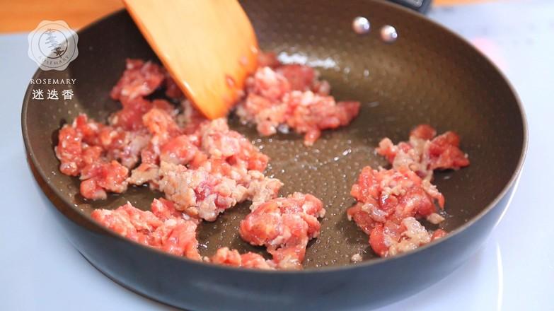 肉末豆芽炒粉条的家常做法