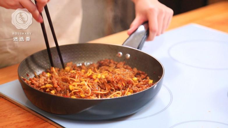 肉末豆芽炒粉条怎么煮