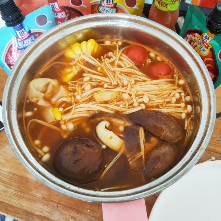 素食火锅的简单做法