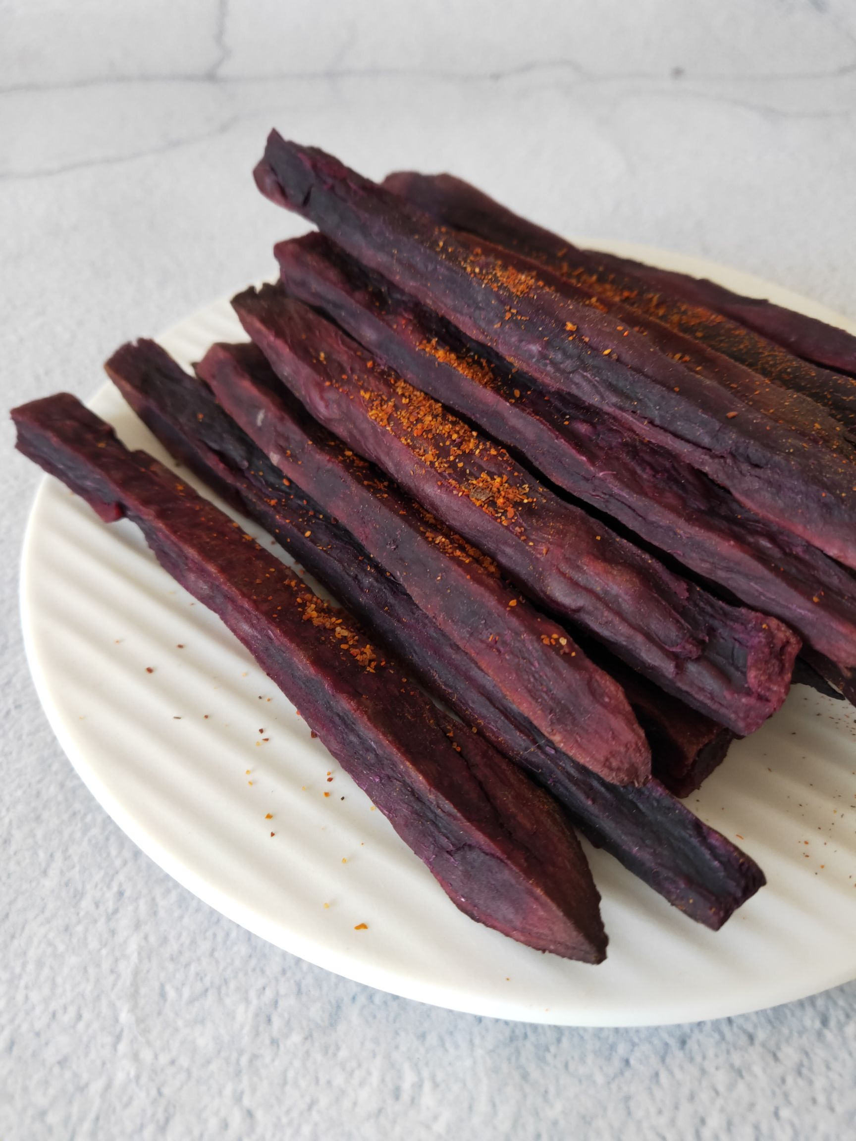 烤紫薯条怎么做