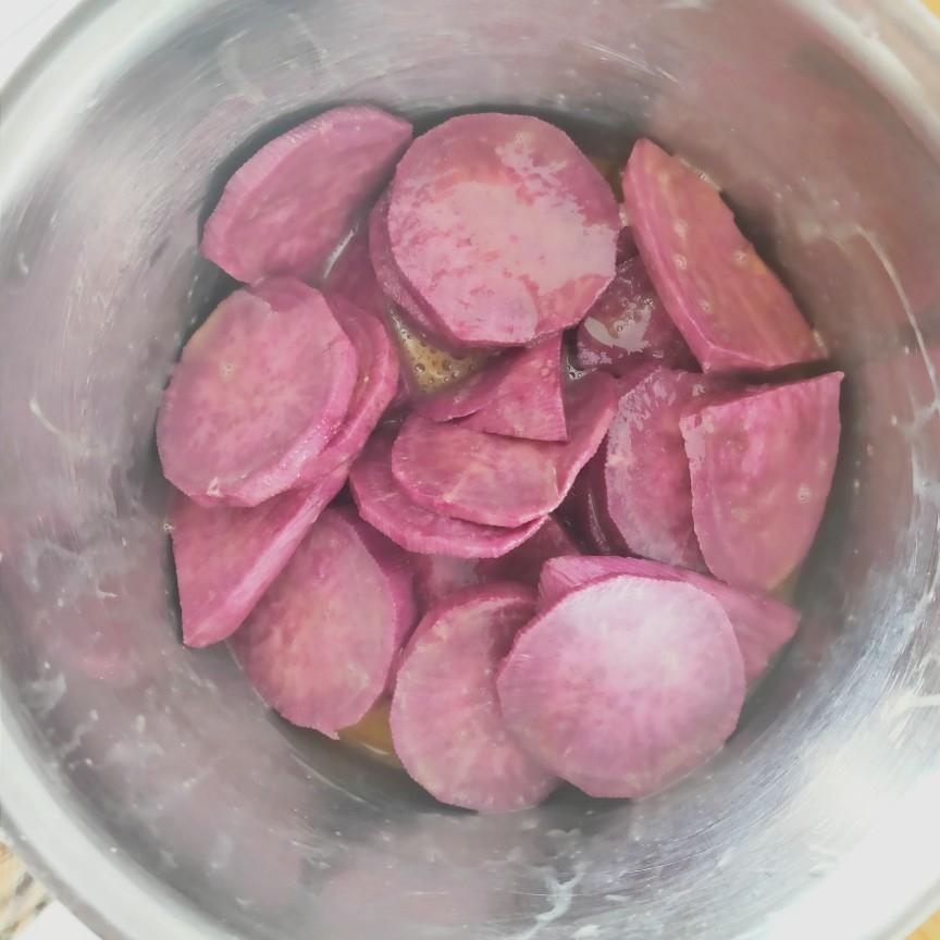 烤紫薯片的家常做法