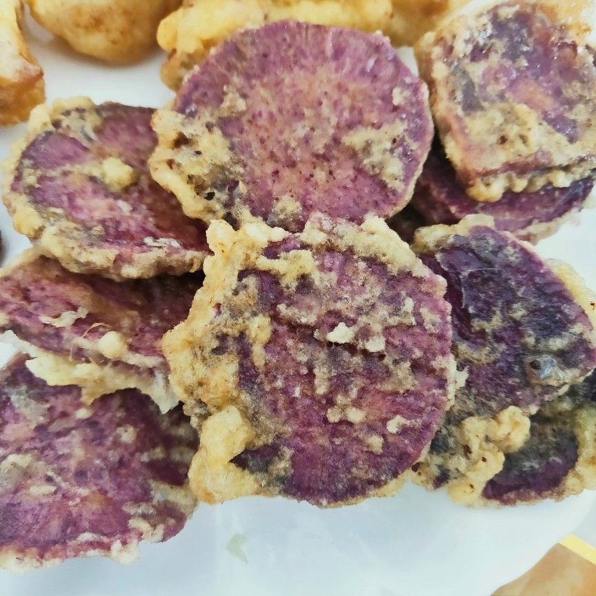 烤紫薯片怎么吃