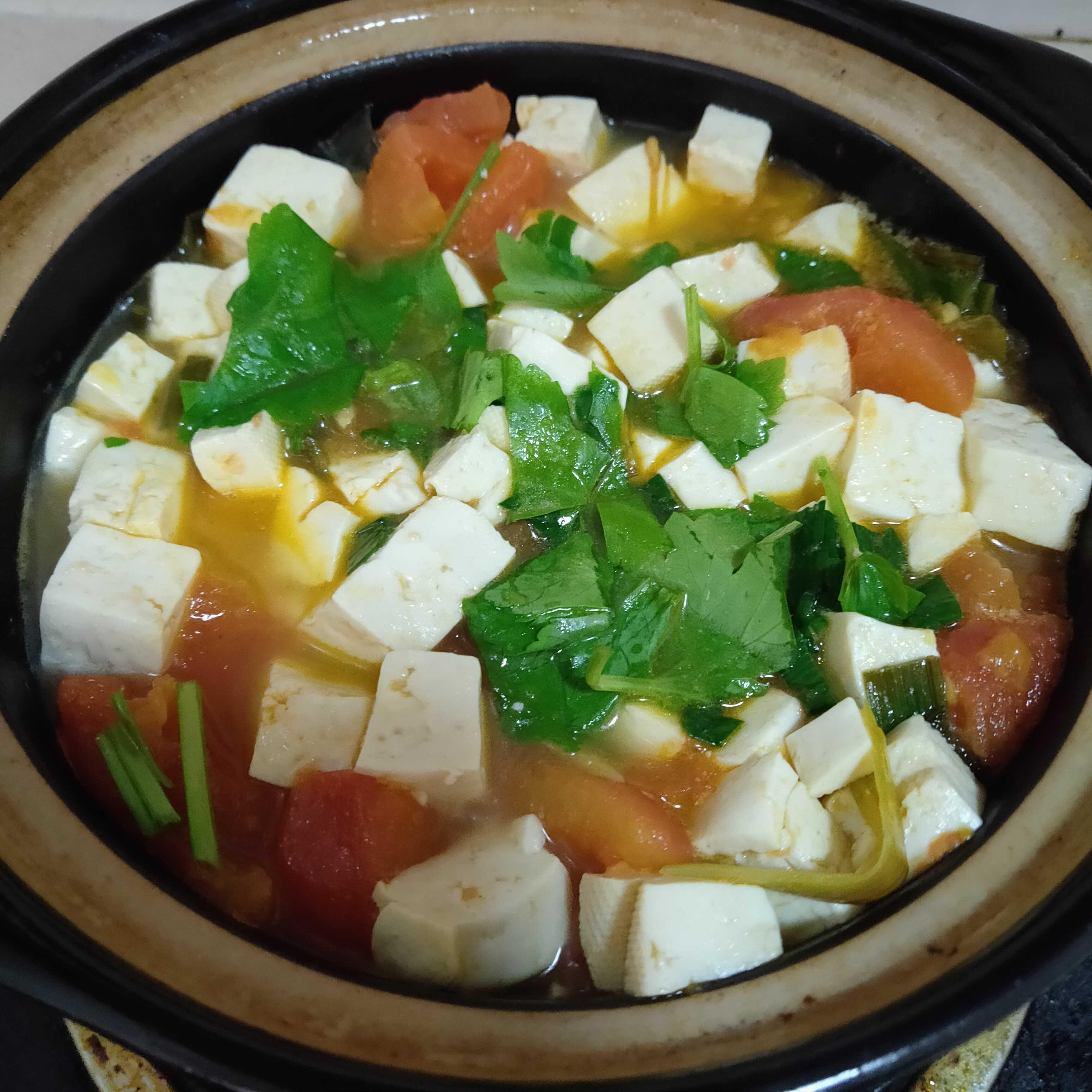 番茄豆腐汤怎么炒
