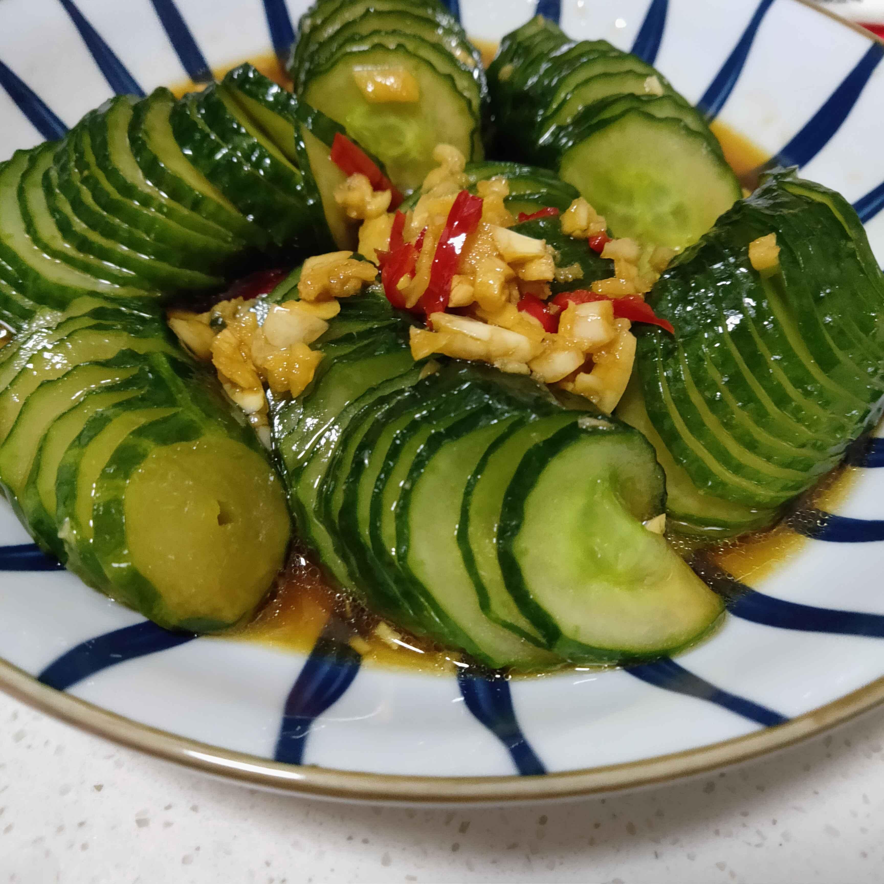 凉拌黄瓜的简单做法