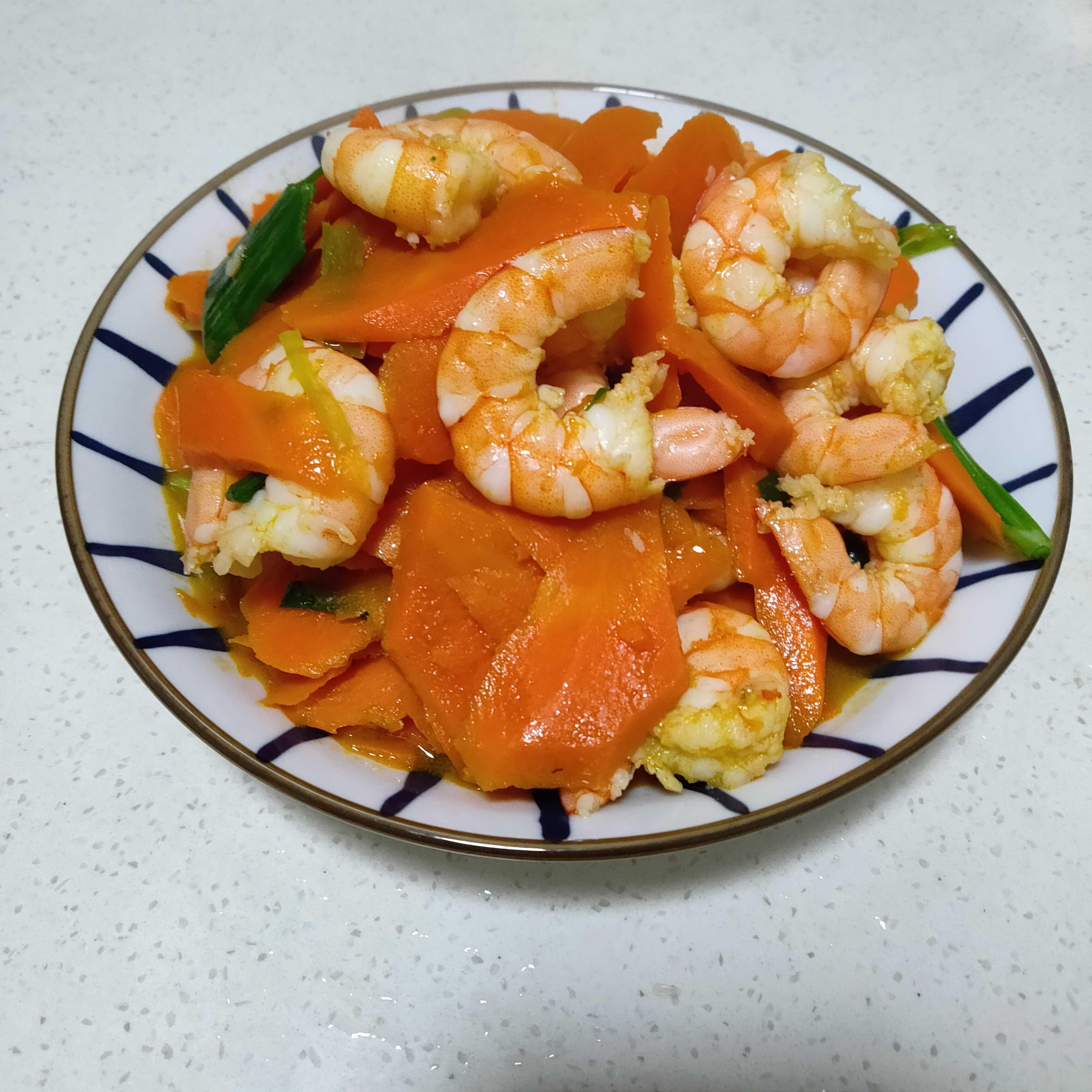 胡萝卜炒虾仁怎么煮