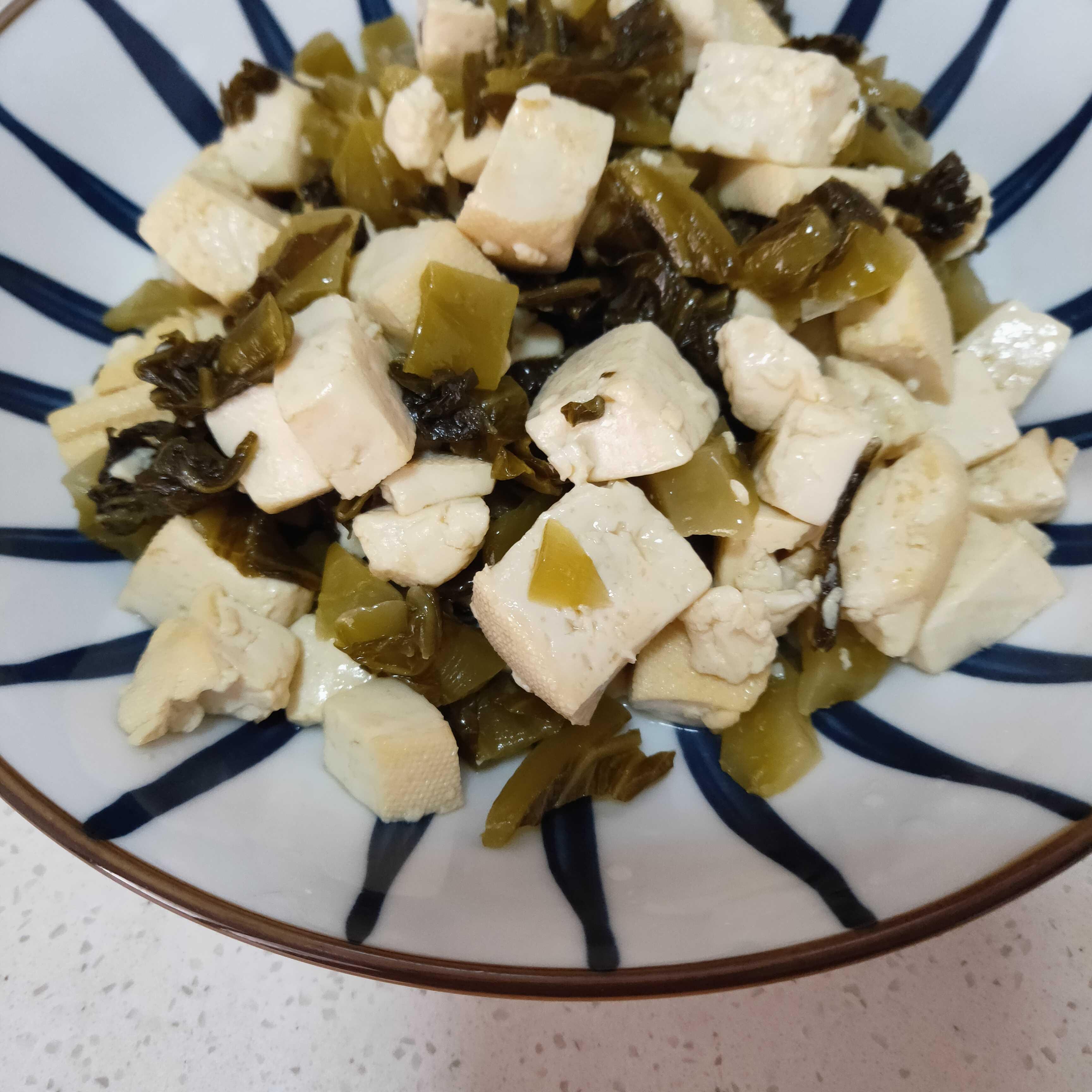酸菜炒豆腐的简单做法