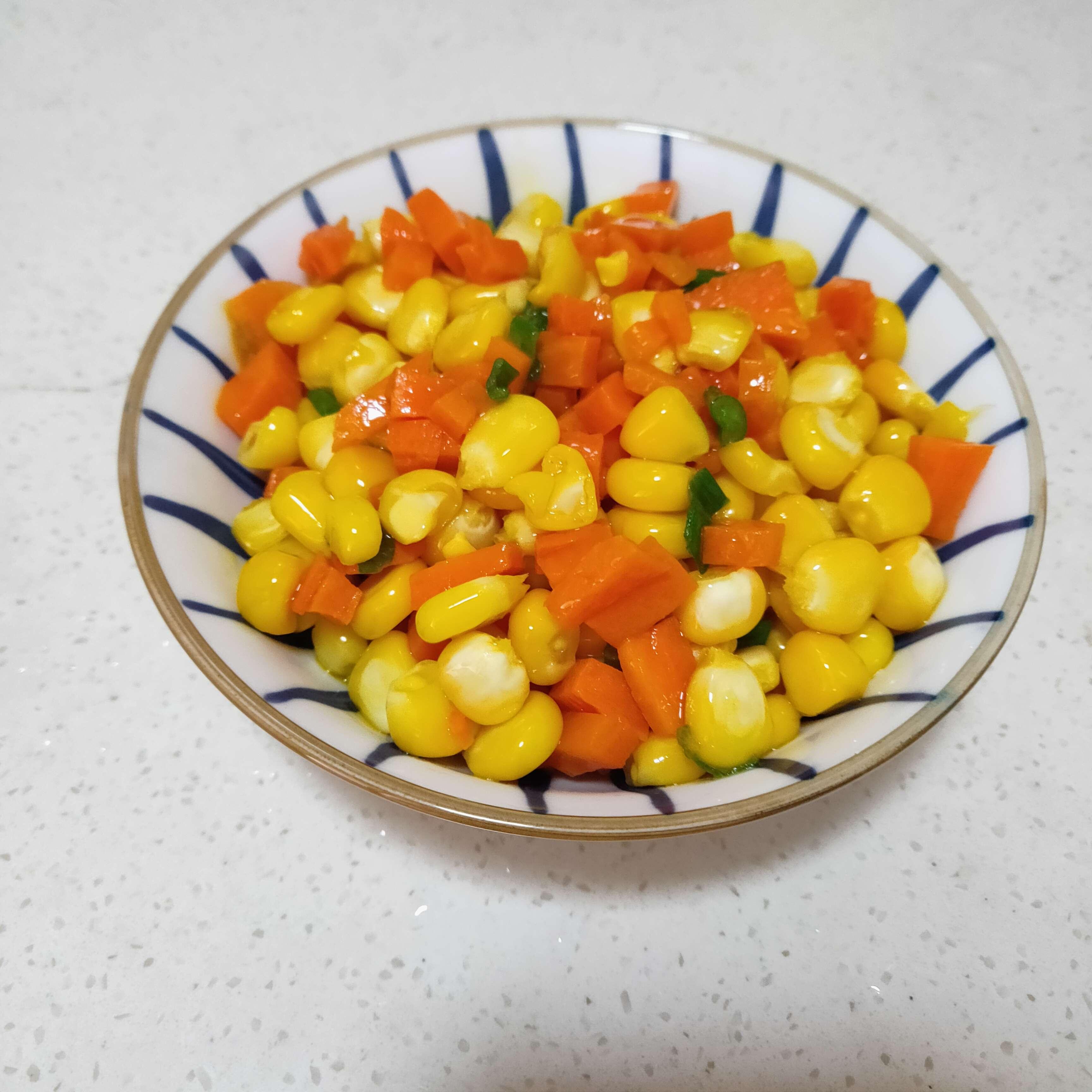 胡萝卜玉米粒怎么炒