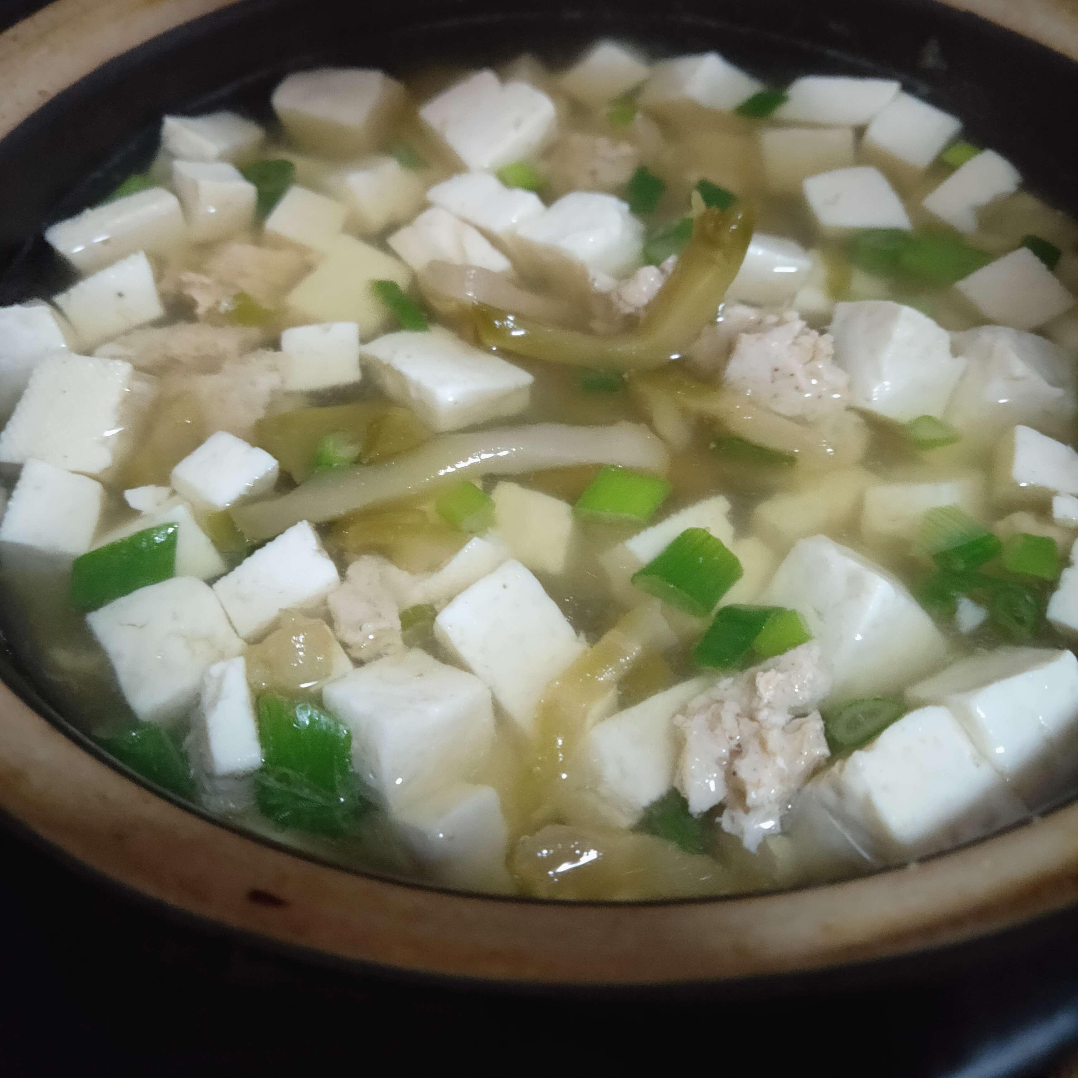 榨菜豆腐瘦肉汤怎么吃