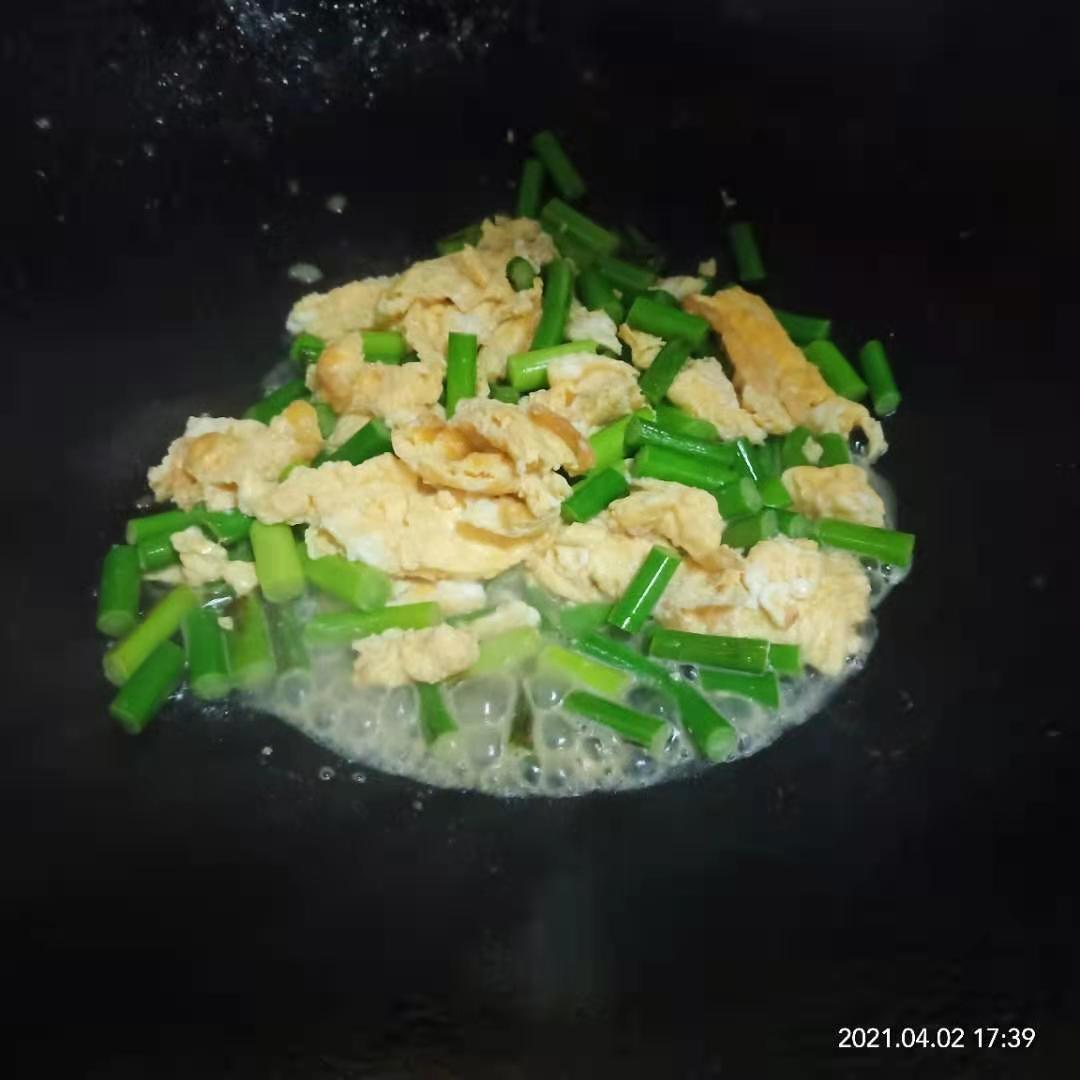 蒜苔炒鸡蛋,蒜苔炒鸡蛋的家常做法