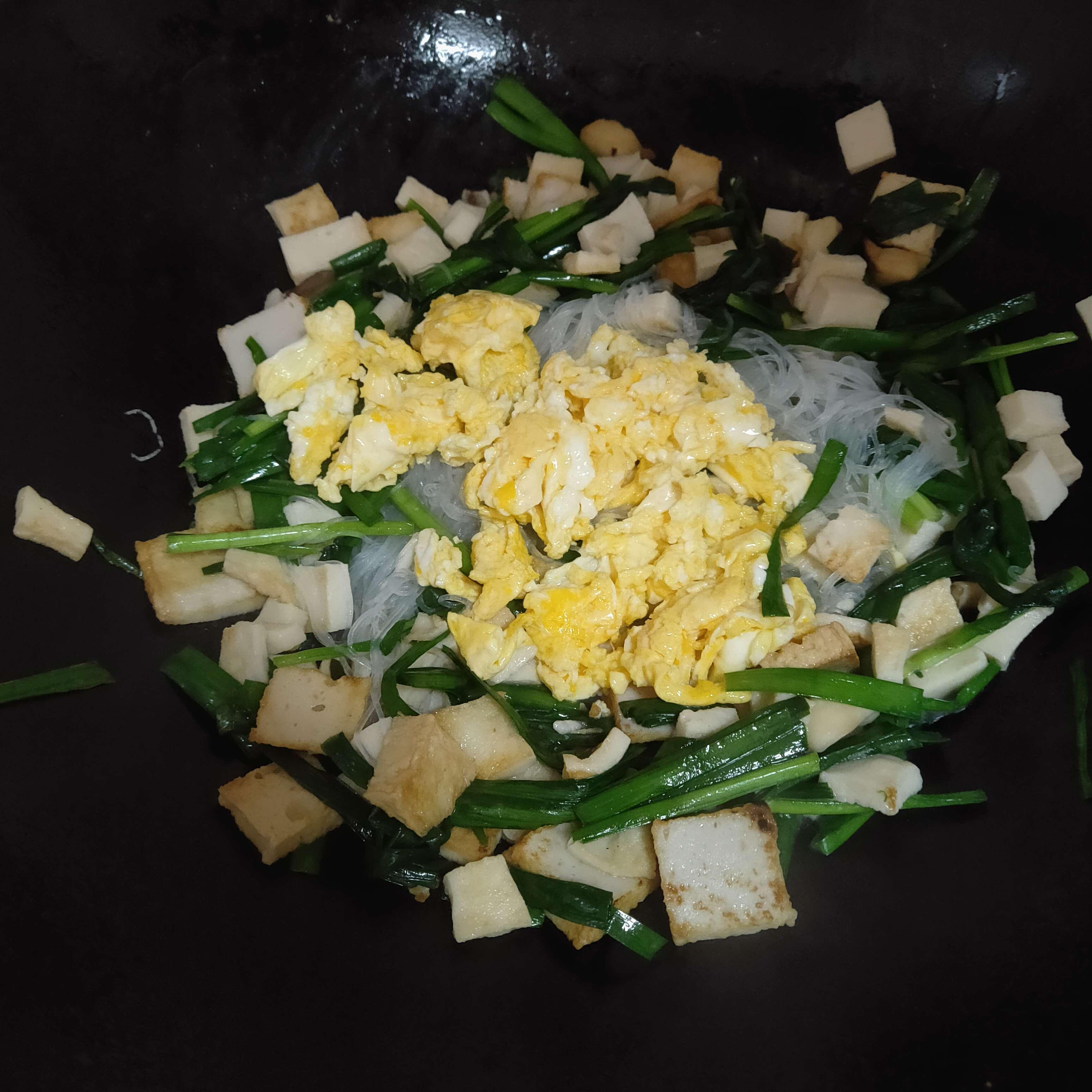 韭菜炒粉丝的简单做法