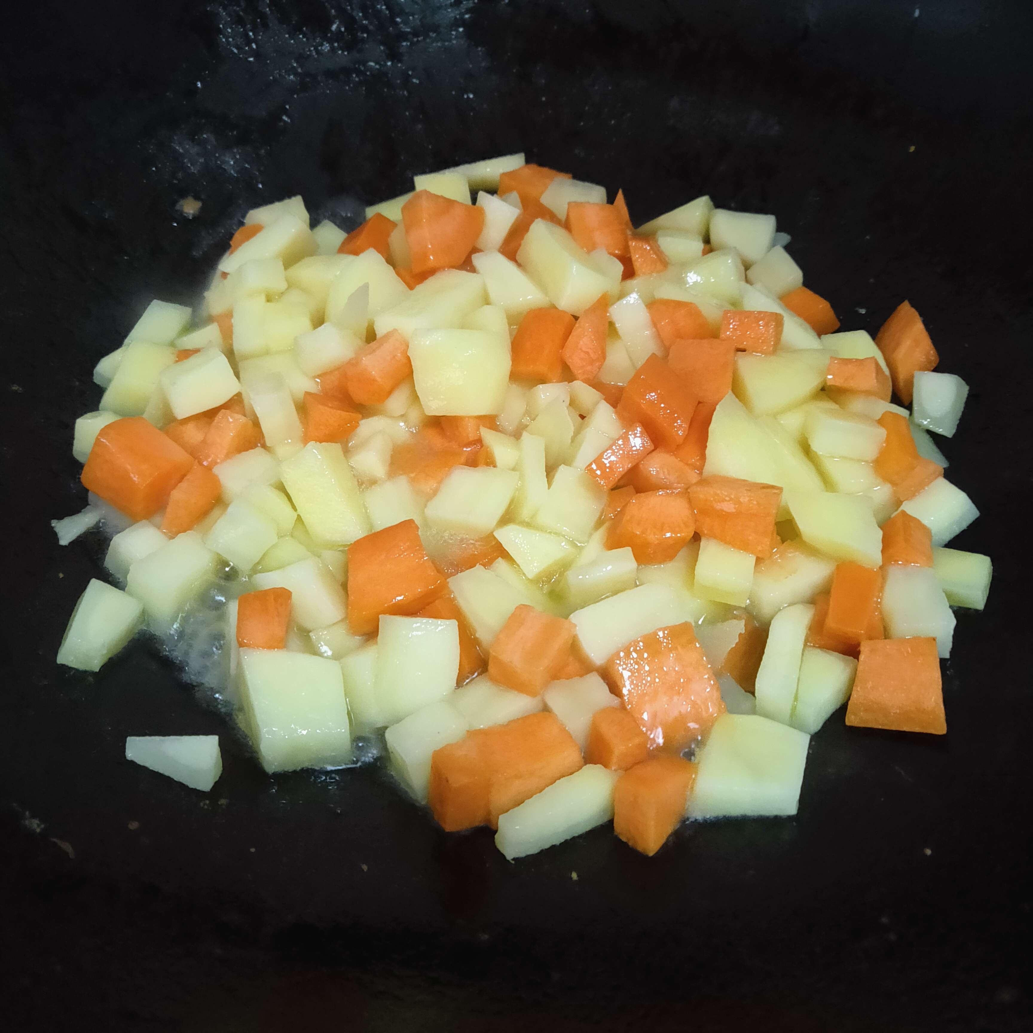 咖喱炖胡萝卜土豆的做法图解