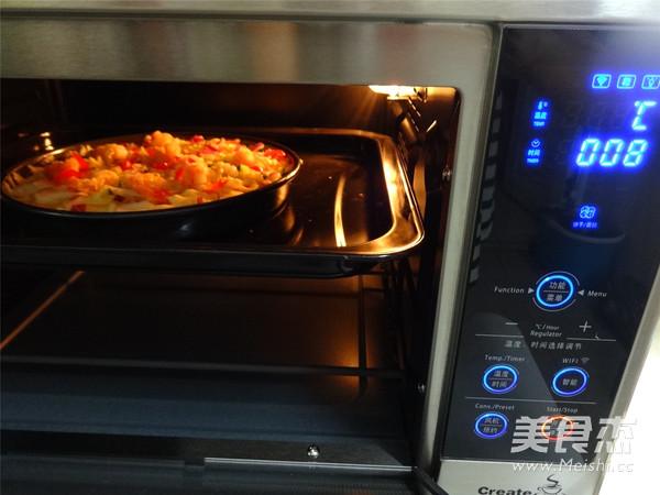 米饭披萨的制作