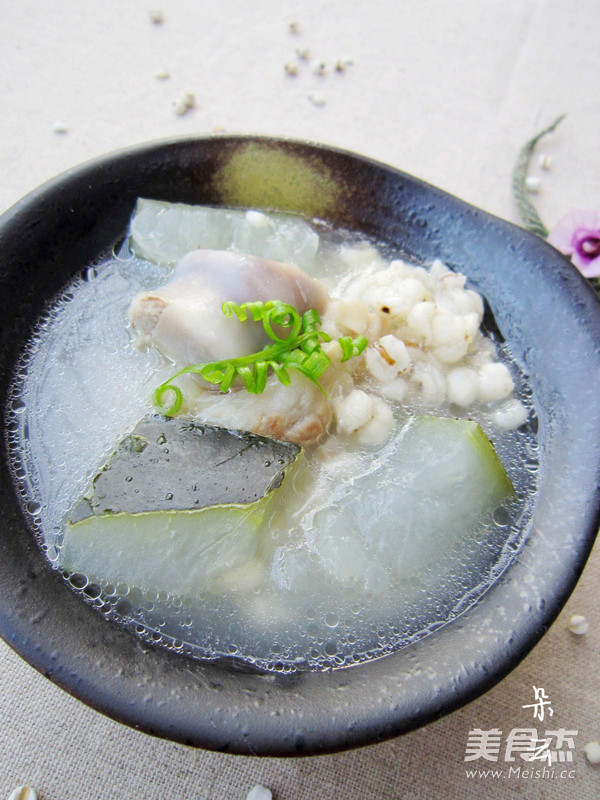 冬瓜薏米猪骨汤成品图