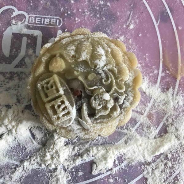 广式红豆沙蛋黄月饼的制作方法
