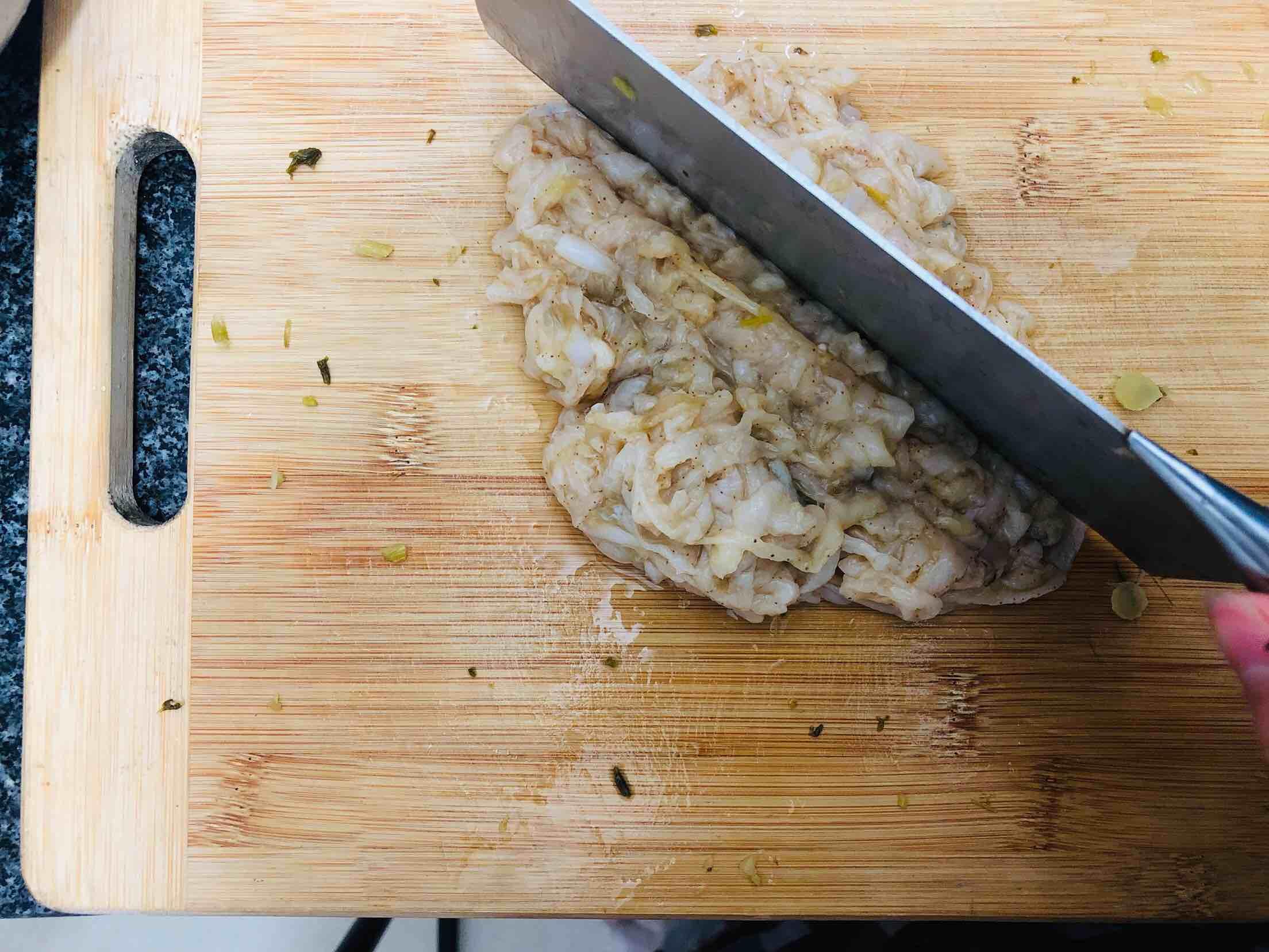 扇贝酸菜馅饺子的家常做法