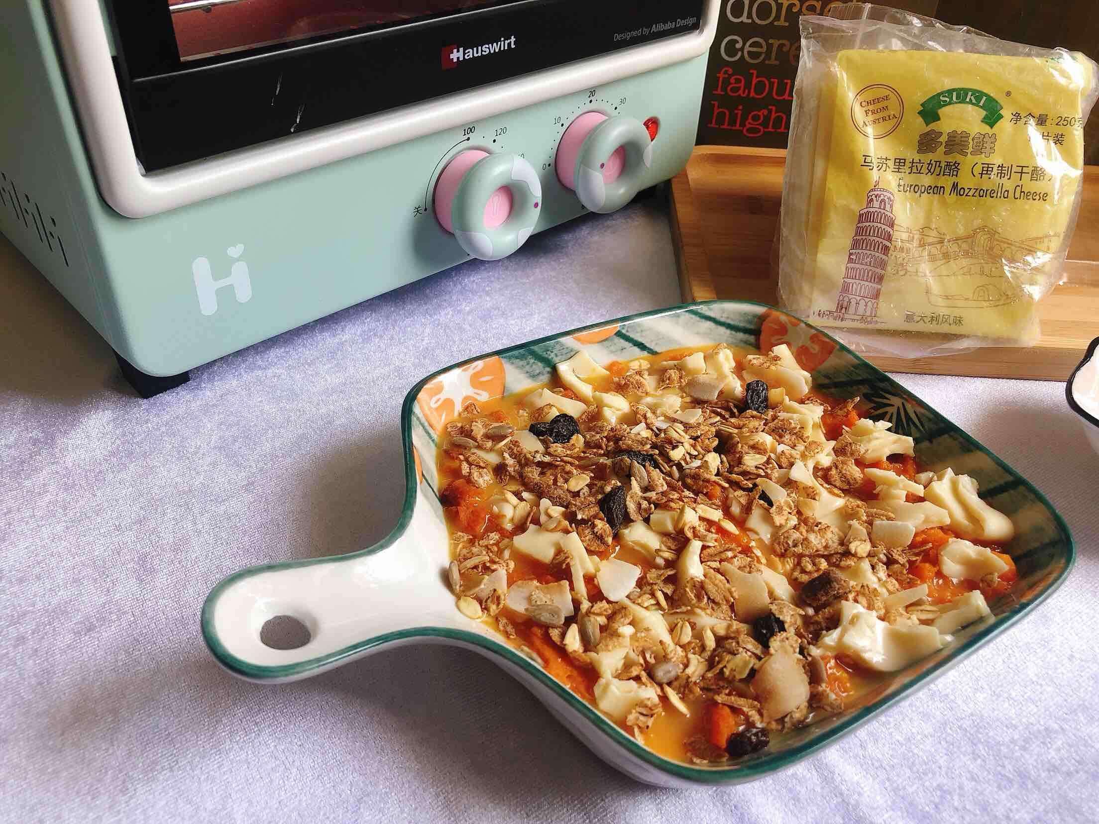 水果燕麦片之芝士焗南瓜怎么吃