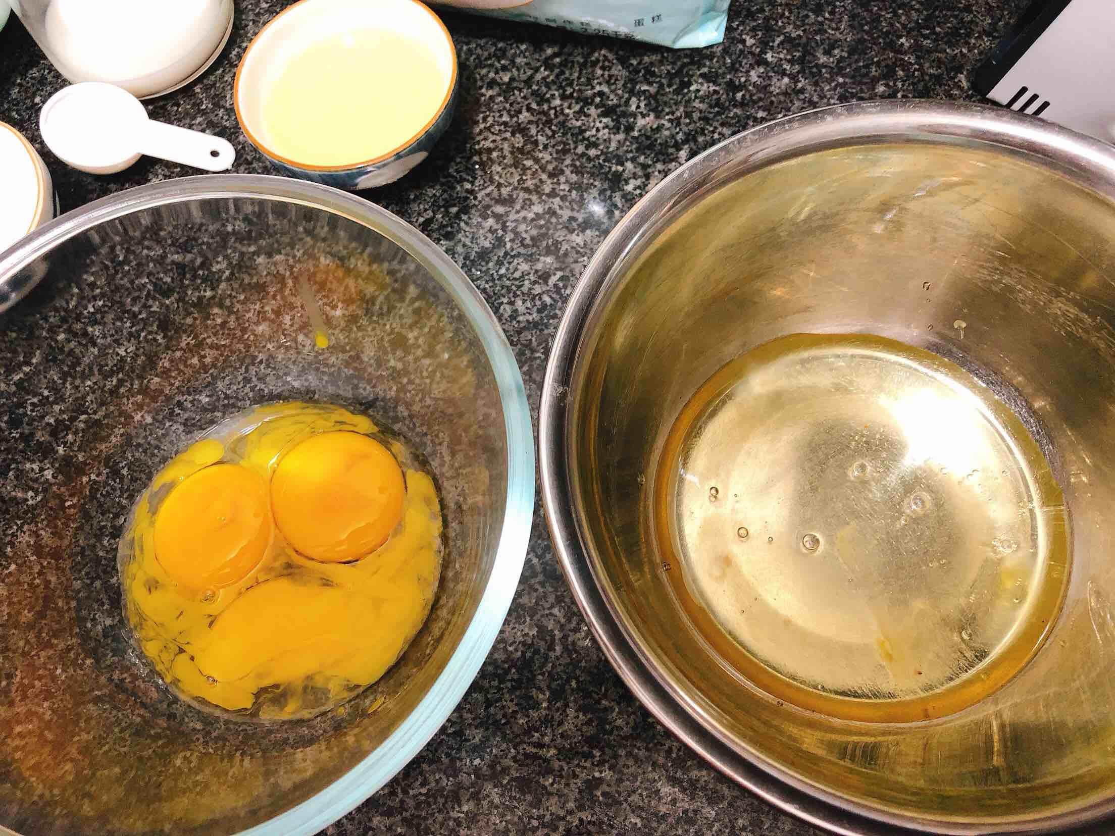 奶香浓郁的戚风蛋糕(6寸)的做法图解