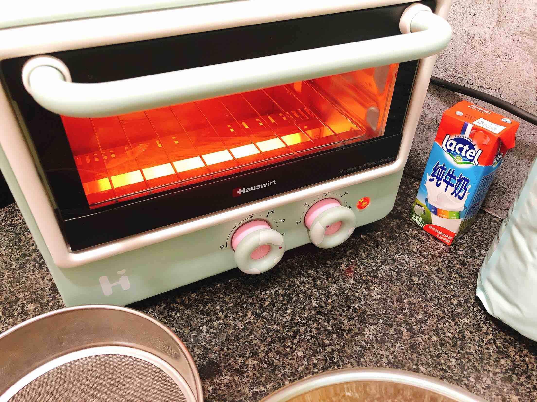 奶香浓郁的戚风蛋糕(6寸)的制作方法