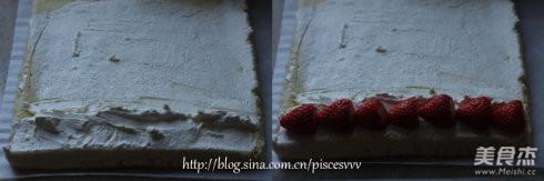 草莓奶油蛋糕卷怎么煮