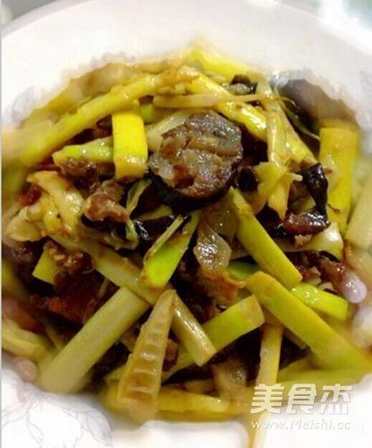竹笋腊肉的简单做法