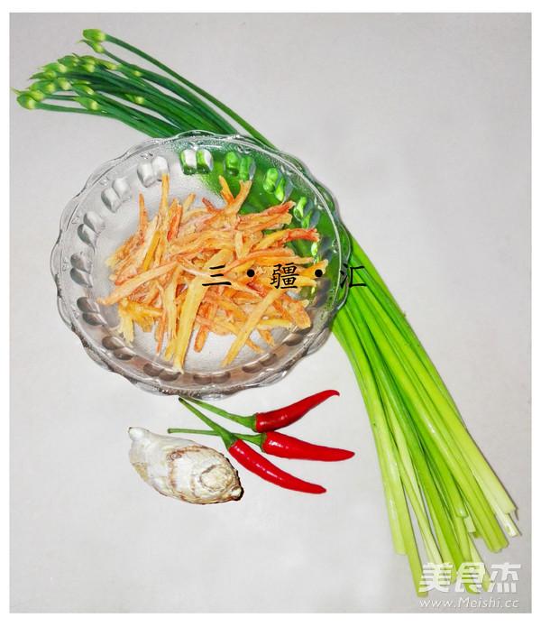 韭菜苔炒蟹腿肉的做法大全