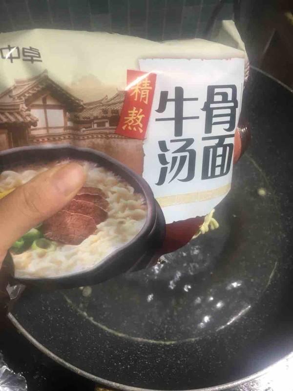 #中卓牛骨汤面#快手酸汤面怎么煮