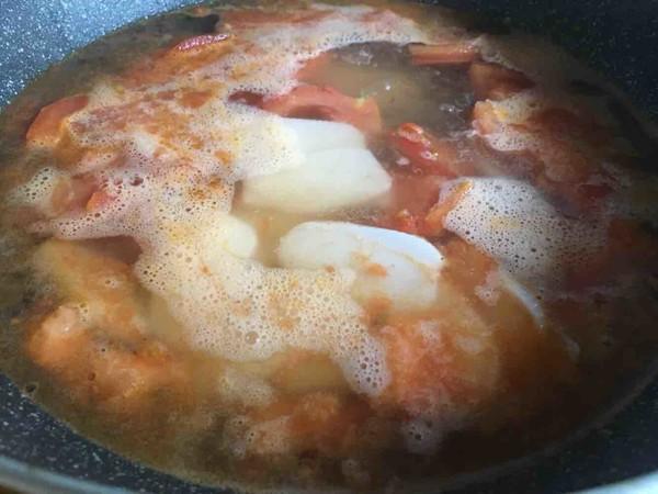 番茄鸡蛋汤年糕怎么煮