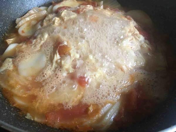 番茄鸡蛋汤年糕怎么煸