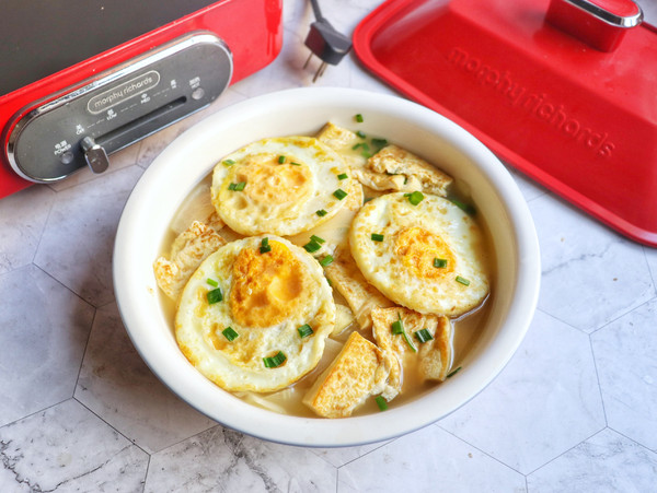 萝卜炖鸡蛋豆腐成品图