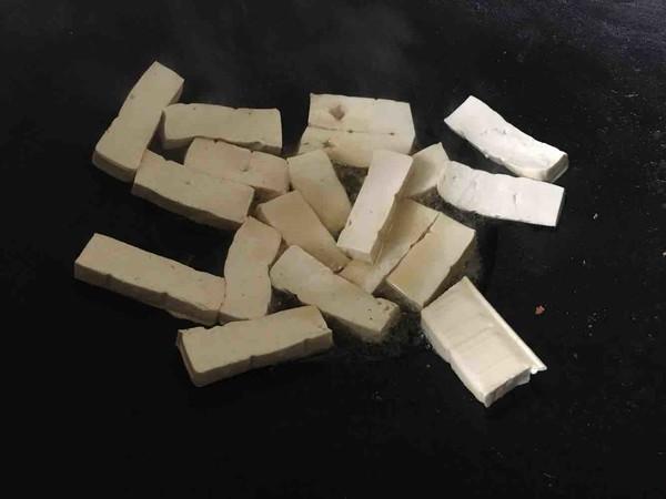芹菜叶烧豆腐的做法图解