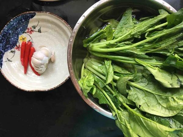 蚝油菠菜的做法大全