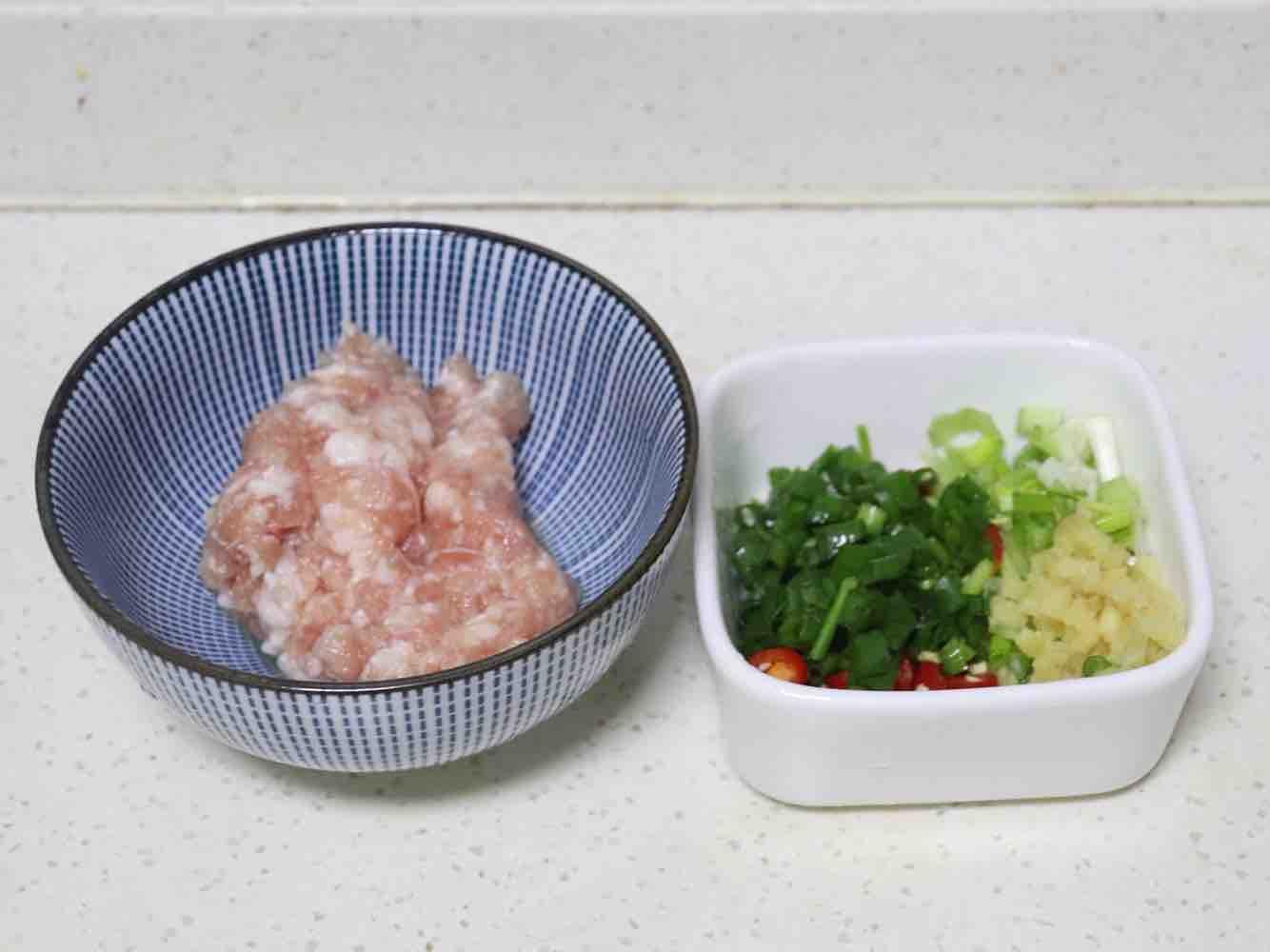 肉末豆腐蒸蛋羹的简单做法