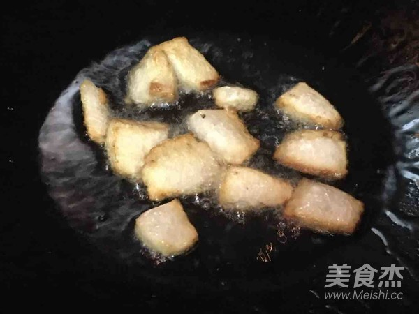 猪油渣红菜苔的简单做法