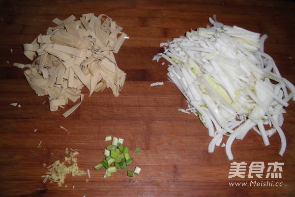 白菜炒干豆腐的做法图解