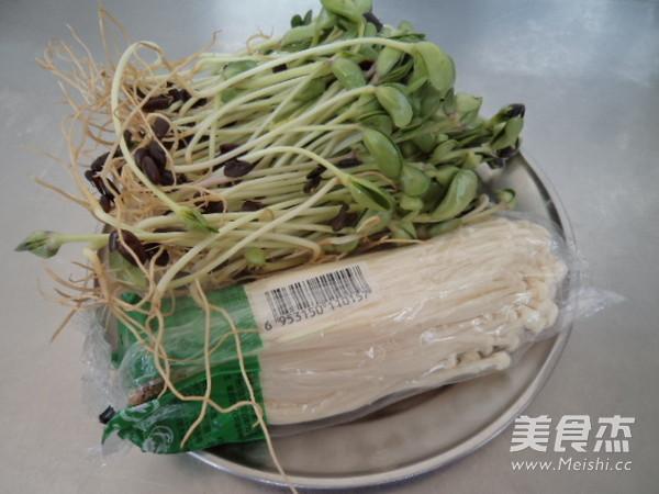 黑豆苗拌金针菇的做法大全