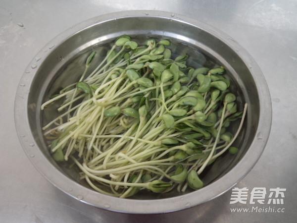 黑豆苗拌金针菇的做法图解